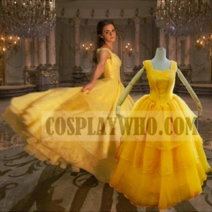 Beauty and the Beast (2017 film) Belle Cosplay Princess Dress