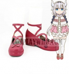 Miss Kobayashi's Dragon Maid Kanna Kamui Cosplay Leather Shoes