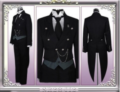 Black Butler Sebastian Cosplay Costume
