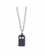 Doctor Who 3D Tardis Police Box Alloy Pendant Necklace