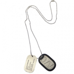 GANGSTA Nicolas Brown Dog Tag Replica