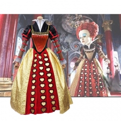 Alice In Wonderland The Red Queen Cosplay Costume