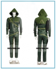Green Arrow Man Oliver Queen Cosplay Costume