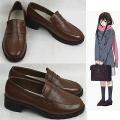 Noragami Hiyori Iki Cosplay Leather Shoes