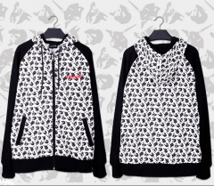 EVANGELION Black and White Camouflage Theme Hoodie