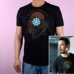 Robert Downey Jr. Iron Man 3 Avengers Black Sabbath Rock T-Shirt