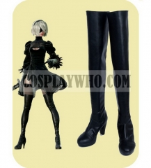 NieR: Automata 2B Cosplay PU Leather Boots