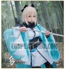 Fate/Grand Order Ascension Stage 3 Souji Okita Sakura Saber Cosplay Kimono