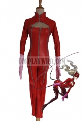 Persona 5  Ann Takamaki Red Latex Catsuit Cosplay