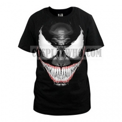 Venom T shirt Black Short Sleeve Cotton Tshirt