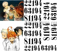 The Promised Neverland Emma Ray Norman Cosplay Number Tattoo