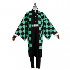 Kimetsu no Yaiba Tanjirou Kamado Cosplay Demon Hunter Uniform