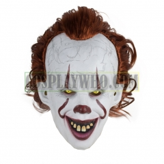 Scary Clown Mask It Halloween Joker Latex Glowing Head Mask